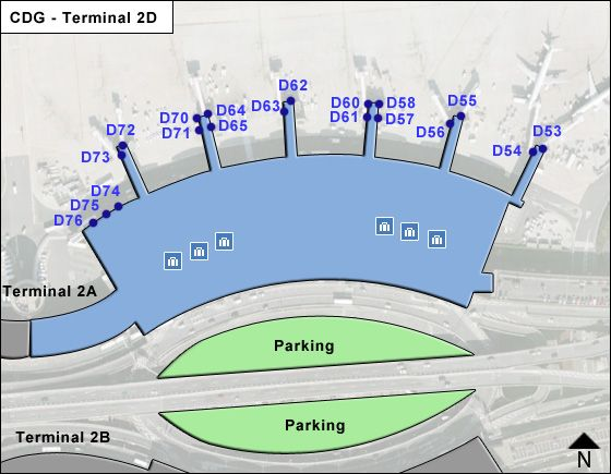 Roissy   Airport Terminal 2D Map