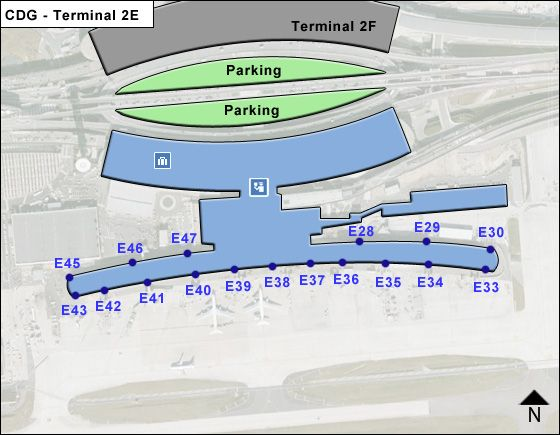 Roissy   Airport Terminal 2E Map