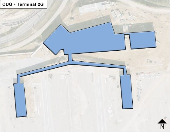 Roissy   Airport Terminal 2G Map