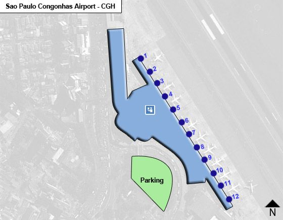 Sao Paulo Congonhas CGH Terminal Map