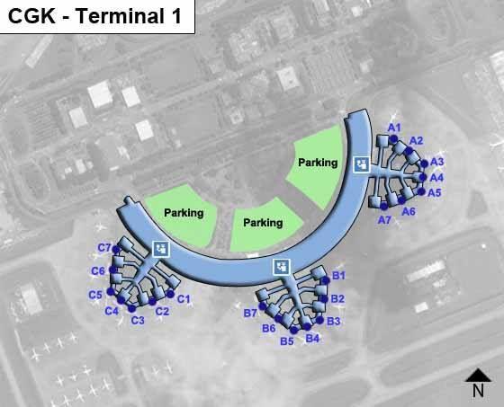Jakarta Hatta Airport CGK Terminal 1 Map