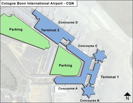 Cologne Bonn CGN Airport Terminal Map