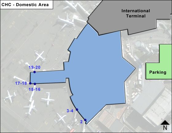 Christchurch International Airport Chc Domestic Area Map