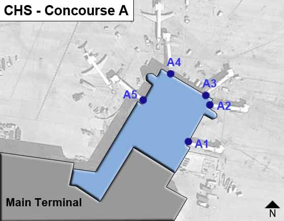 Charleston Airport Concourse A Map