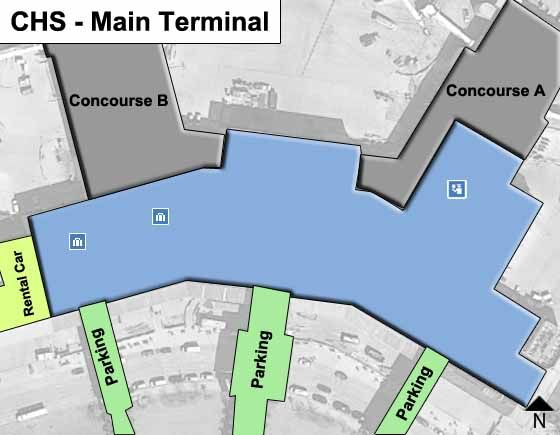 Charleston Airport Main Terminal Map