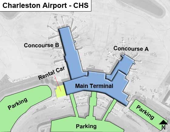 Charleston CHS Terminal Map
