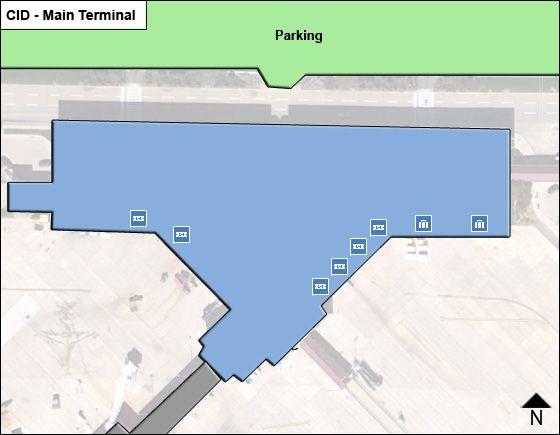 Cedar Rapids Airport Main Terminal Map