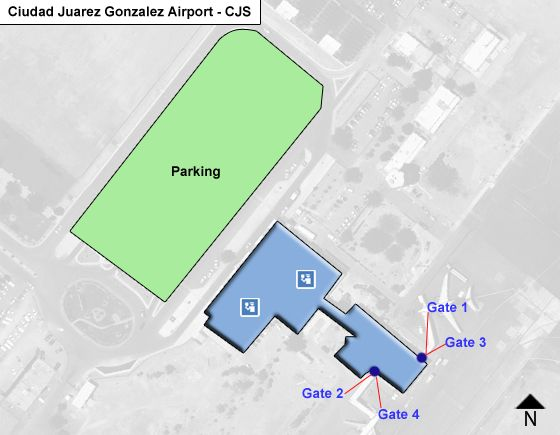 Juarez, Chihuahua Airport Overview Map
