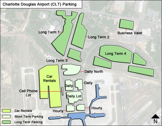 Charlotte Douglas Airport Parking | CLT Airport Long Term Parking Rates U0026 Map