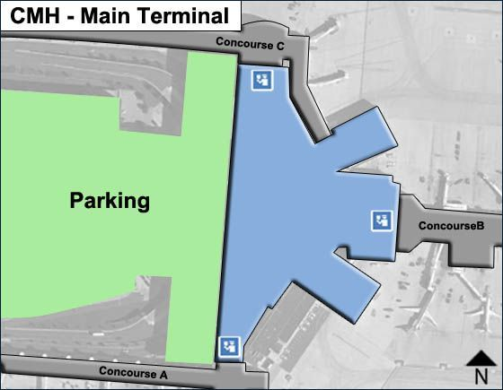 Columbus Airport Main Terminal Map