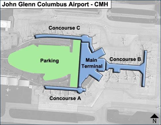 Columbus Airport Overview Map