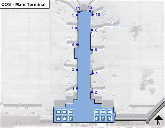 Colorado Springs Airport Main Terminal Map