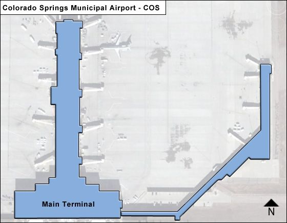 Colorado Springs Municipal COS Terminal Map