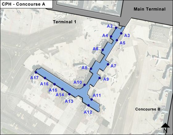 Copenhagen CPH Terminal Map
