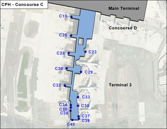 Kastrup Airport Concourse C Map