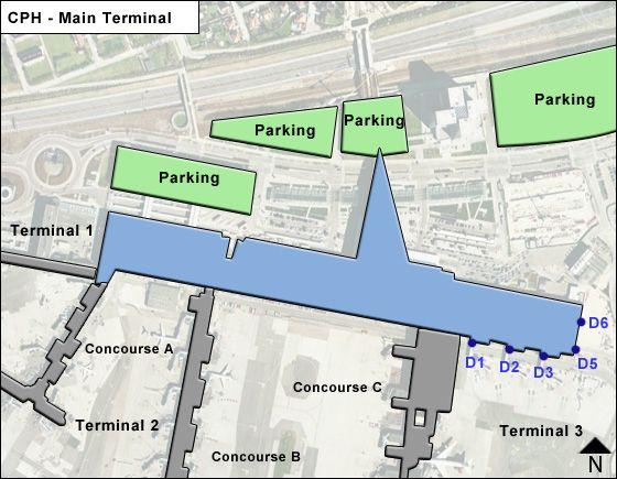Kastrup Airport Main Terminal Map