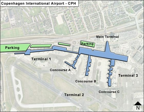 Kastrup Airport Overview Map