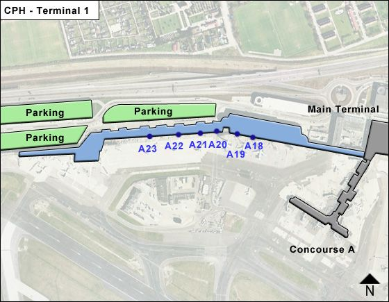 Kastrup Airport Terminal 1 Map