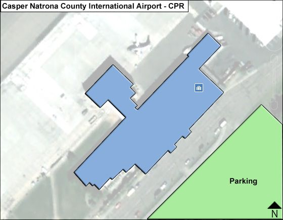 Casper Airport Overview Map