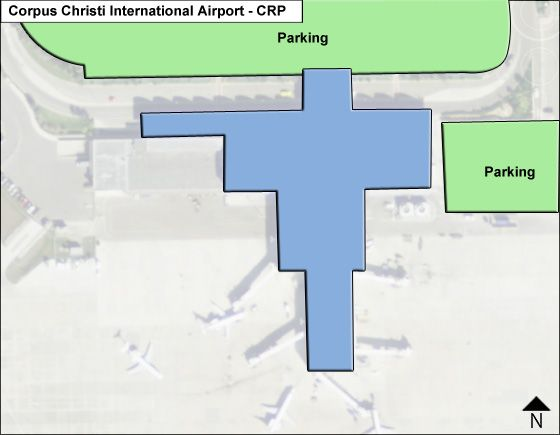 Corpus Christi Airport Overview Map