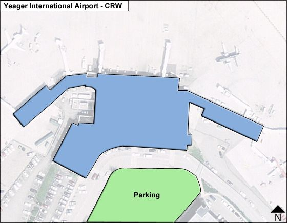 Yeager CRW Terminal Map