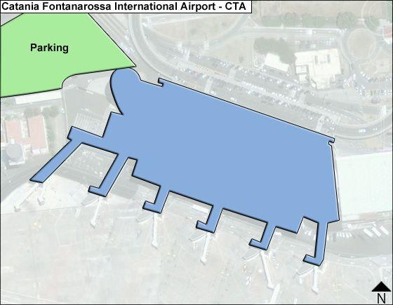 Catania Fontanarossa CTA Terminal Map