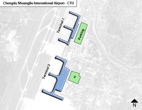 Chengdu, Shuangliu County Airport Overview Map