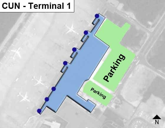 Cancun Airport Cun Terminal 1 Map