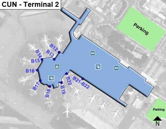 Cancun CUN Terminal Map