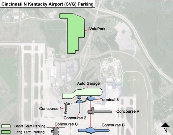 cincinnati n kentucky airport parking cvg airport long term