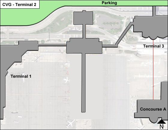 Cincinnati N Kentucky CVG Terminal Map