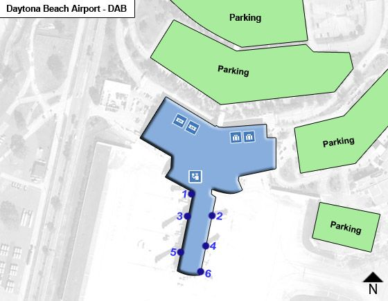 Daytona Beach DAB Airport Terminal Map