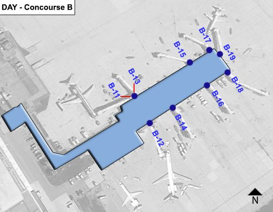 Vandalia Airport Concourse B Map