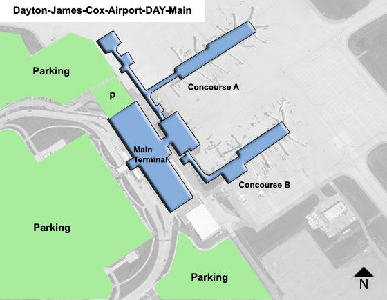 Dayton James Cox DAY Terminal Map