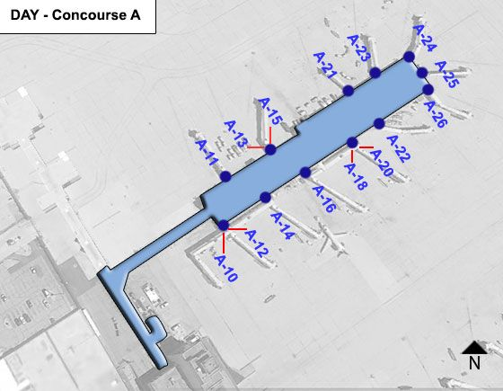 Vandalia Airport Concourse A Map
