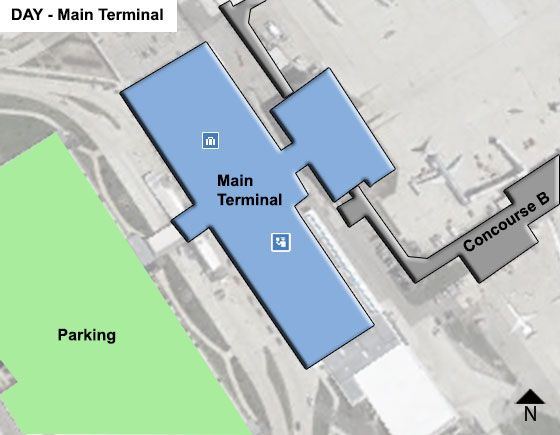 Vandalia Airport Main Terminal Map