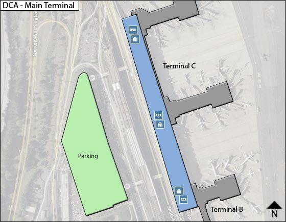 Arlington Airport Main Terminal Map