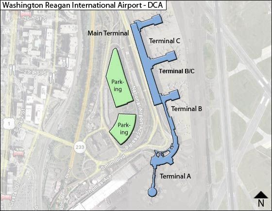 Reagan National DCA Terminal Map