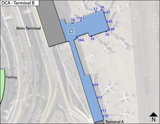 Arlington Airport Terminal B Map