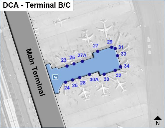 Arlington Airport Terminal BC Map