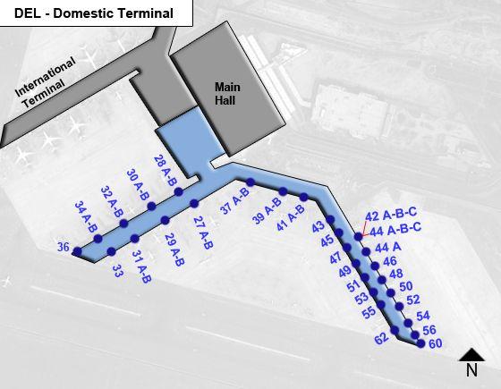 New Delhi Indira Gandhi DEL Terminal Map