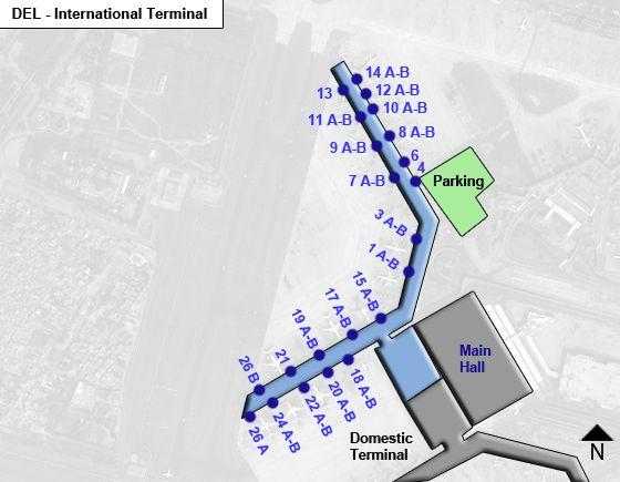 New Delhi Airport Intl Terminal Map