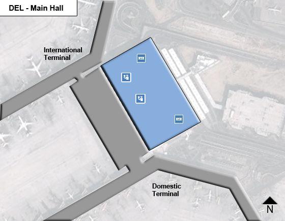New Delhi Airport Main Terminal Map