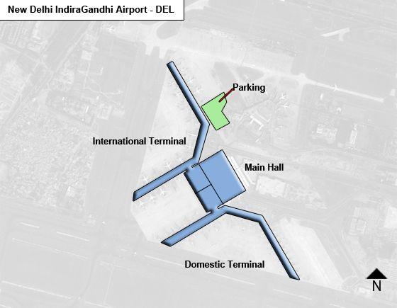 map of new delhi airport New Delhi Indira Gandhi Del Airport Terminal Map map of new delhi airport