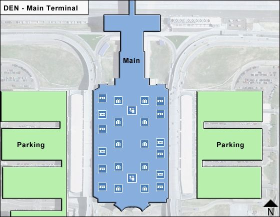 Denver DEN Terminal Map