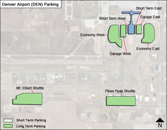 Denver DEN airport parking map
