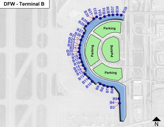 Dallas Fort Worth DFW Terminal Map