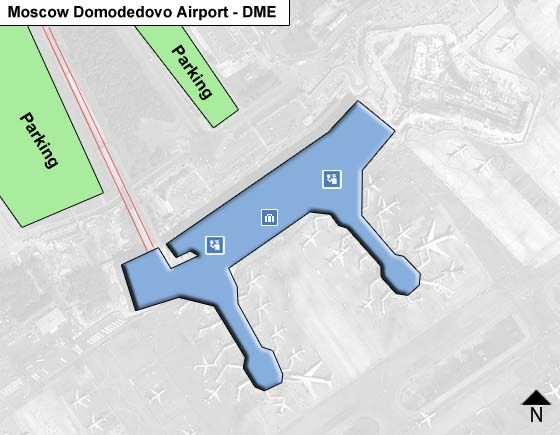 Moscow Domodedovo DME Terminal Map