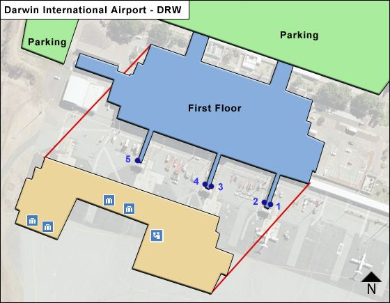 Darwin International DRW Terminal Map
