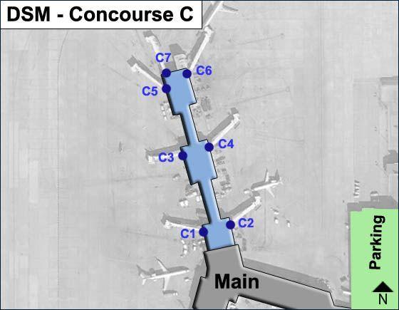 Des Moines DSM Terminal Map